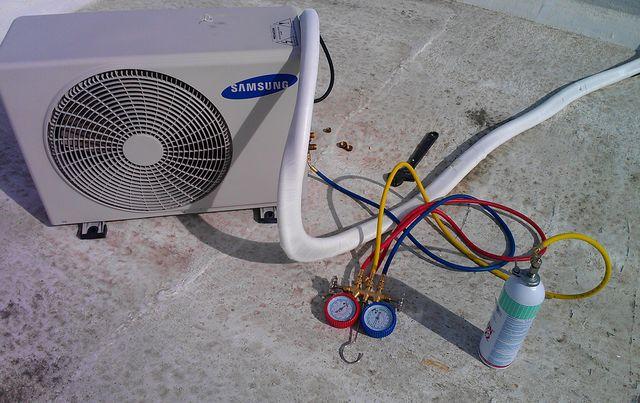 Como ponerle gas a un minisplit for Cargar aire acondicionado casa